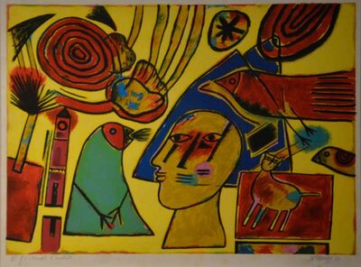 Guillaume Corneille, 'Oiseau Verte', 2004