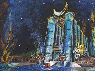 """Enrico Prampolini, 'Five Artworks: """"salambò""""; """"varieté - L'Ammaestratore di Pinguini""""; """"Madame Butterfly""""; """"Gli idoli""""; """"il campiello""""'"""