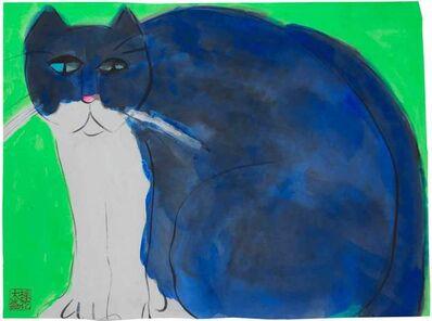 Walasse Ting 丁雄泉, 'Big Blue Cat', 1990-2000