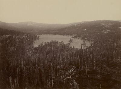 Carleton E. Watkins, 'Dams and Lake, Nevada County, California, Distant View', 1871
