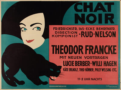 Hans Neumann, 'Poster for the Chat Noir, Berlin', unknown