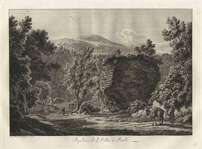 Albert Christoph Dies, 'Sepolcro di L. Cellio a Tivoli - The Tomb of Cellius in Tivoli', 1795