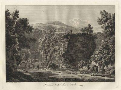 Albert Christoph Dies, 'Sepolcro di L. Cellio a Tivoli - The Tomb of Cellius in Tivoli', 1795