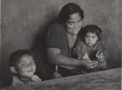 Ellen Auerbach, 'Mother Feeding Children, San Cristobal, Mexico', 1956