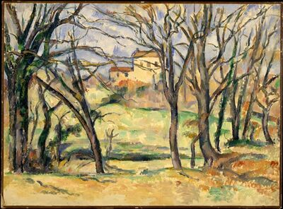 Paul Cézanne, 'Trees and Houses Near the Jas de Bouffan', 1885–1886