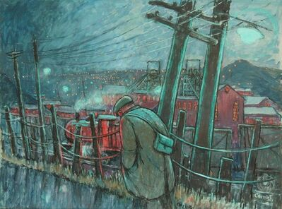 Norman Cornish, 'Miner on pit road', ca. 1965