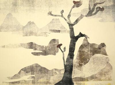 Leiko Ikemura, 'Paisajes con el monte Fuji 16', 2015