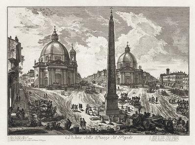Giovanni Battista Piranesi, 'Veduta della Piazza del Popolo', 1750