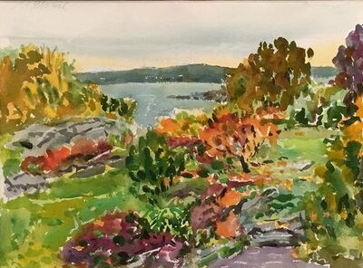 Nell Blaine, 'Touch of Fall', 1994