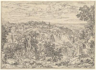 Joseph Anton Koch, 'Tivoli and the Waterfalls with Shepherd Families', 1821