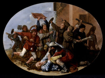Jan Miense Molenaer, 'Battle Between Carnival and Lent', ca. 1633-1634