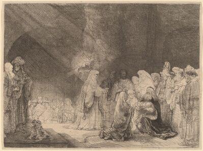 Rembrandt van Rijn, 'The Presentation in the Temple: Oblong Print', ca. 1639