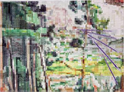 Franklin Evans, 'landscapeascezanneasmuse', 2018