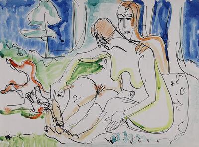 Ernst Ludwig Kirchner, 'Zwei Akte im Wald', ca. 1933