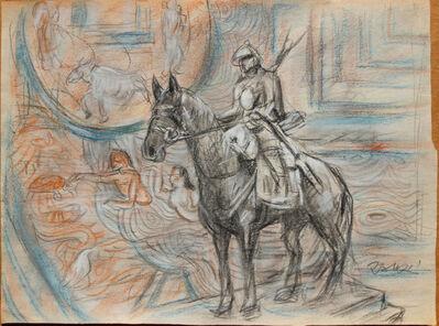 Pei Zhuangxin, 'Sketch ⼿稿《⾹格⾥拉的武⼠》', 2008