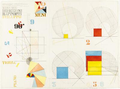 """Giò Pomodoro, 'Progetto di scultura """"I mesi""""', 1978"""