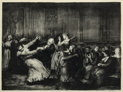 George Wesley Bellows, 'Dance in a Mad House', 1917