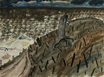 Milton Avery, 'Burned Hill by the Sea', 1938
