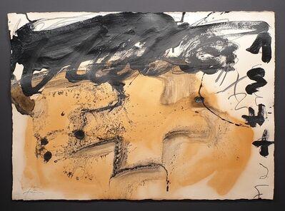 Antoni Tàpies, 'Silueta de cruz  ', 1988