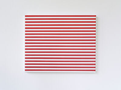 Kristina Matousch, 'Cover Hole, red stripe', 2019