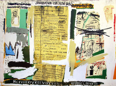 Jean-Michel Basquiat, 'Jawbone of An Ass'