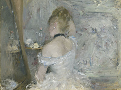 Berthe Morisot, 'Woman at Her Toilette', 1875-1880