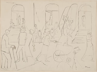 Jacob Lawrence, 'Untitled (Harlem Street Scene)', 1958