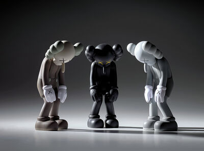 KAWS, 'Three works: (i) SMALL LIE (Brown); (ii) SMALL LIE (Black); (iii) SMALL LIE (Grey)'