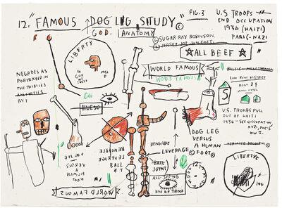 Jean-Michel Basquiat, 'Untitled Dog Leg Study', 1982-83/2019