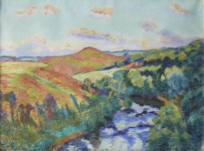 Armand Guillaumin, ''Le Puy Barriou, Paysage de la Creuse, Aout, 1916''
