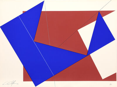 Cris Cristofaro, 'Untitled - Blue and Red Rectangles ', 1978
