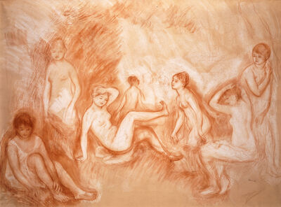 """Pierre-Auguste Renoir, 'The Bathing Spot, Study for the """"Great Bathers""""', c. 1886–87"""