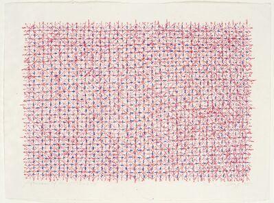 Ding Yi 丁乙, 'Appearance of Crosses 95-B58', 1995