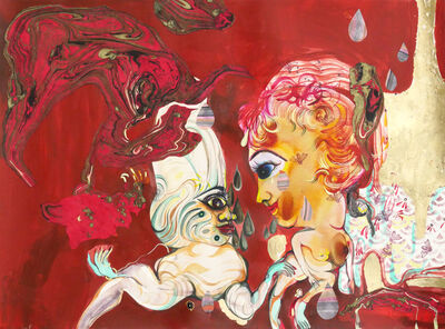 Rina Banerjee, 'All heart and wonder the future came to her like thunderous lava, she leaped while it seeped into places hostile and thence explosions placed her away from him, his anger waked her as survivor', 2017