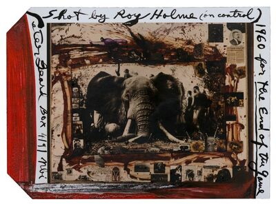Peter Beard, '105 Iber Shot by Roy Holme (on control), for The End of Game', 1960