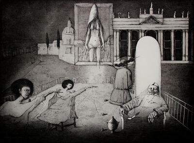 Sergio Vacchi, 'Roma dell'Addio', ca. 1980
