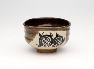 Miraku Kamei XV, 'Tea bowl (chawan), oribe and yellow glazes, Takatori style', ca. 2019