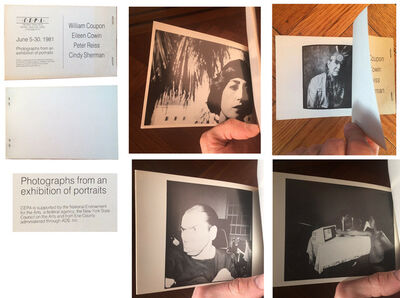 "Cindy Sherman, '""Photographs from an Exhibition of Portraits"", Group Exhibition Catalogue, CEPA Gallery, (Sherman's first instance in print)', 1981"