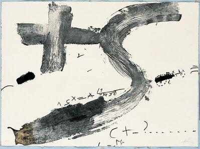 Antoni Tàpies, 'Creu i S', 1976