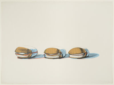 Wayne Thiebaud, 'Barbecue Beefs', 1970