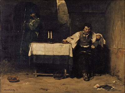 Mihály Munkácsy, 'The Condemned', 1869-1872