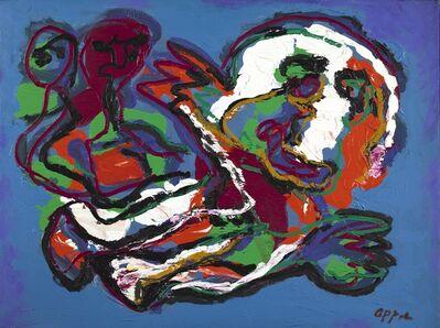 Karel Appel, 'Figures in blue background', 1987