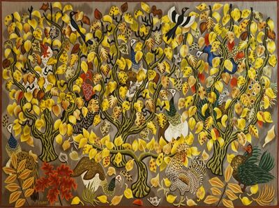 Dom Robert, 'Modern Tapestry Designed by Dom Robert, Pavane de Novembre', ca. 1962