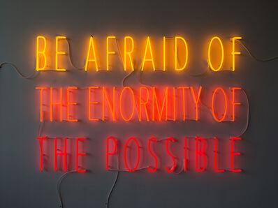 Alfredo Jaar, 'Be Afraid of the Enormity of the Possible', 2015