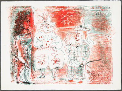 Pablo Picasso, 'L'ECUYÈRE ET LES CLOWNS (The Horsewoman and the Clowns)', 1961