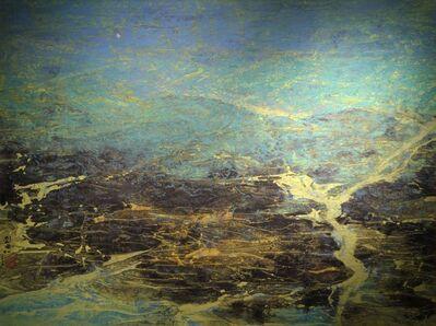 Liu Kuo-sung 刘国松, 'Golden Sand on Earth - Jiuzhaigou Valley Series, No.79  金沙鋪地:九寨溝系列之七十九', 2005
