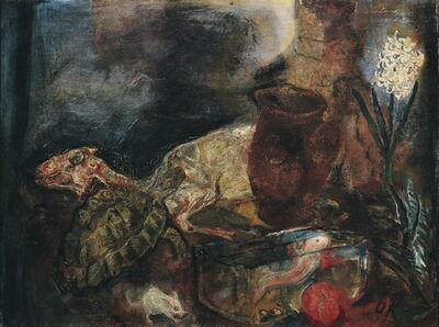 Oskar Kokoschka, 'Still Life with Mutton and Hyacinth', 1910