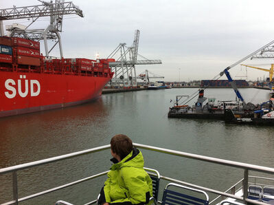 Hans Weiss, 'My son THOMAS W., on his thirteenth birthday in Rotterdam harbor. The Netherlands, (June 9, 2011)'