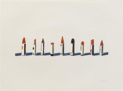 Wayne Thiebaud, 'Lipstick Row', 1970
