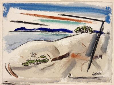John Marin, 'Lake George: On Andrew's Island', 1923